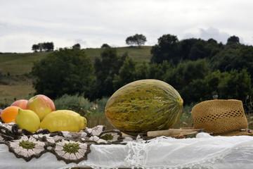 Melon and seasonal fruits
