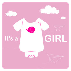 baby shower, bodysuit and origami paper airplanes