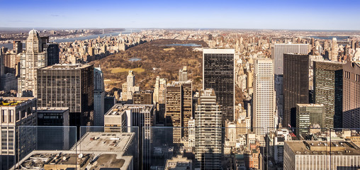 Aerial View of New York city in the USA