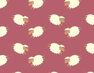 sheep pattern vector illustration