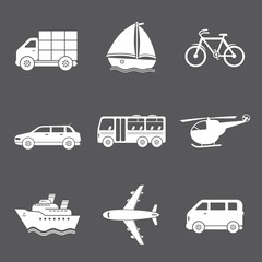 Vector transport icons