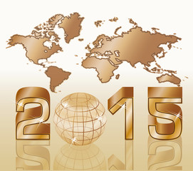 2015 New year background, vector illustration