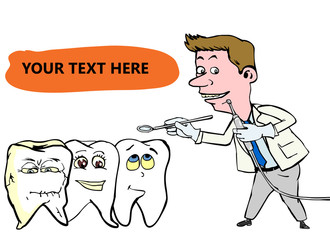 dentist visiting the teeth