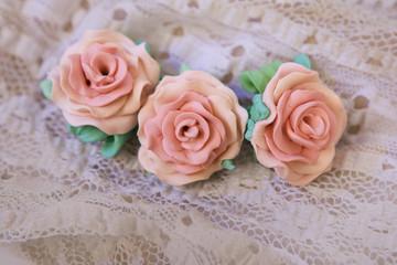 Romantic style: Fashion studio shot of a floral rose bracelet (j