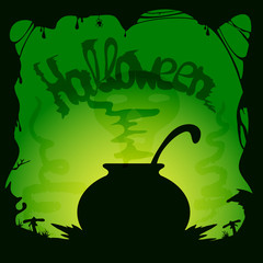Halloween witches cauldron