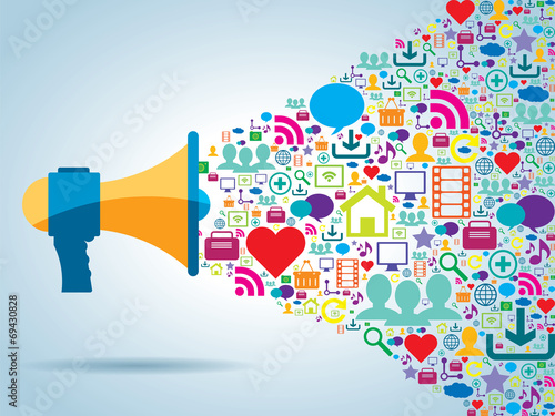 communication and promotion in social media poster