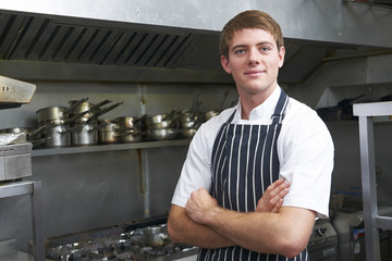 Portrait Of Chef In Kitchen