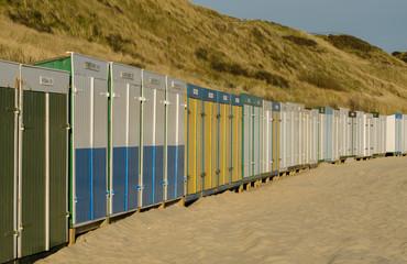 Zoutelande Nederland strandhuisjes op strand