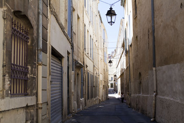 Street in the city of Montpellier