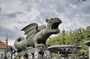 Austria, Klagenfurt - Fontana del Drago