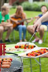Party in a garden