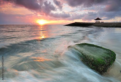 Foto op Plexiglas Indonesië Sanur beach sunrise in Bali Indonesia