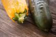 Zucchini und Gurke