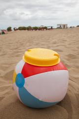 Beachball with sieve