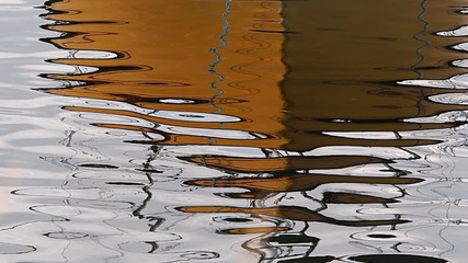 Water surface of the sea ocean with ripples and small waves