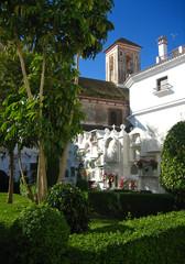 Manilva, cementerio y Torre de la Iglesia de Santa Ana