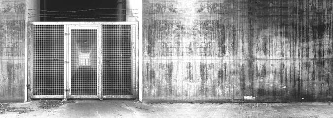 wattle in the wall monochrome