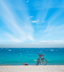 bicycles on the sand