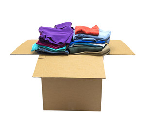 Neatly Folded Clothes In Box