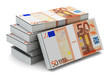 Stacks of 50 Euro banknotes