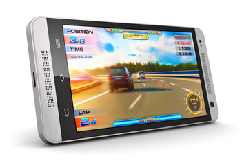 Smartphone with video game