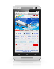 Buying air tickets via smartphone