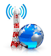 Global telecommunications concept
