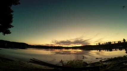 Wasser See Wellen Abend Sonnenuntergang Dämmerung