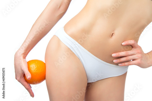 Hip legs abdomen and orange in hand cellulite liposuction