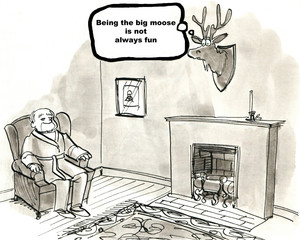 'Being the big moose is not always fun.'