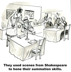 """...Shakespeare to hone their summation skills."""