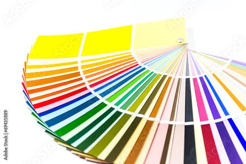 canvas print picture Farbfächer mit weißem Hintergrund