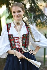 Beauty in medieval dress