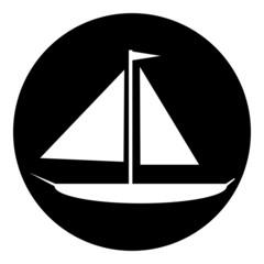 Sailing ship button