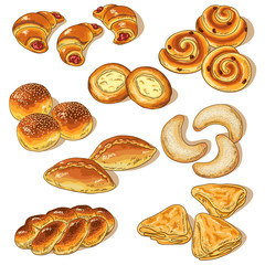 Variety of bakery