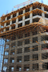 scaffolding on construction site