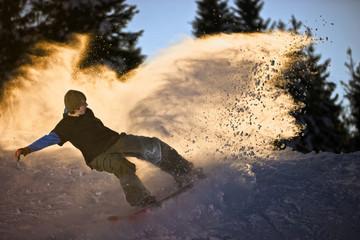 snowbording wave
