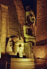 Egypt, Luxor, Luxor temple at night  (1991 BC)