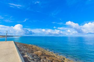 Blue sea and sky in Okinawa, Japan