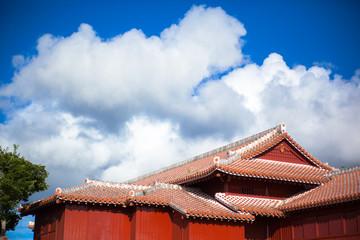Stucco Roof of Shuri Castle, Okinawa
