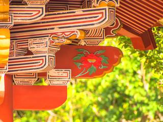 Decoration of Shurei Gate in Okinawa, Japan