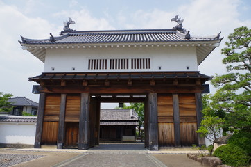 掛川城の門
