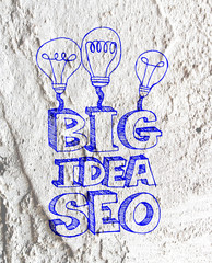 Seo Idea SEO Search Engine Optimization on Cement wall texture