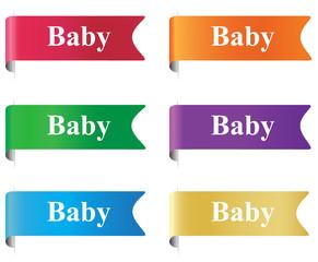 Baby, sign, badge, sticker, label, horizontal