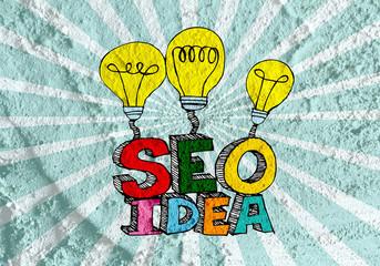Seo Idea SEO Search Engine Optimization on Cement wall texture b