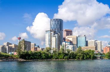 Skyscrapers towering over Calgary Alberta
