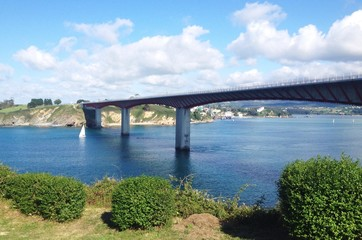 Bridge over Eo river in Ribadeo, Galicia - Spain