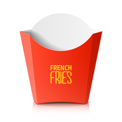 French fries paper box