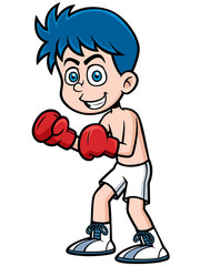 Vector illustration of boxing