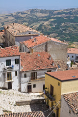 Panoramic view of Acerenza. Basilicata. Italy.